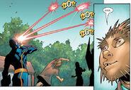 Maxwell Jordan (Earth-616) and Scott Summers (Earth-616) from New X-Men Vol 2 1 0001