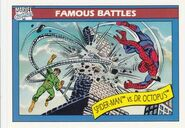 Peter Parker vs. Otto Octavius (Earth-616) from Marvel Universe Cards Series I 0001