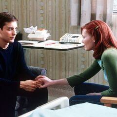 Peter & MJ at the hospital.