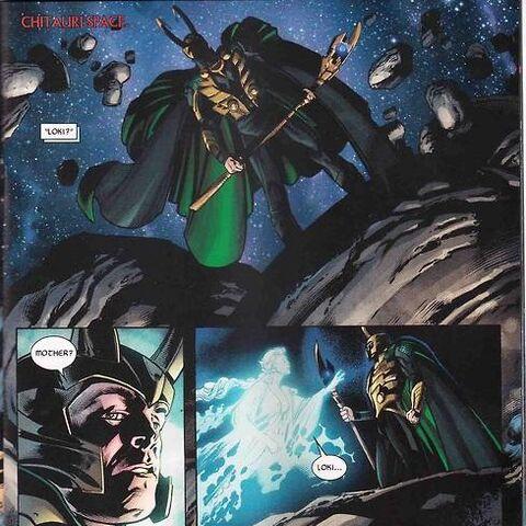Frigga discovers Loki's survival.