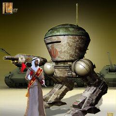 Concept art for an Iranian battle droid.