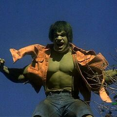 The Hulk having just transformed