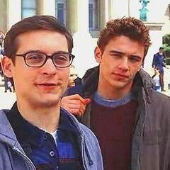 Harry and his friend Peter Parker