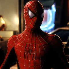 Spider-Man close Up.