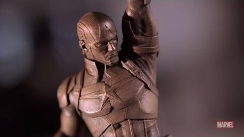 Making of the Captain America's 75th Statue