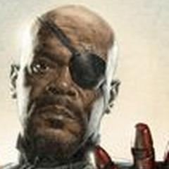 Nick Fury in Avengers Promo Art.
