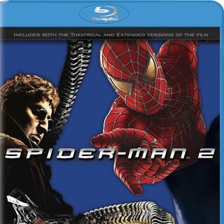 Spider-Man 2 variant Blu-Ray cover featuring Doctor Octopus and Spider-Man.