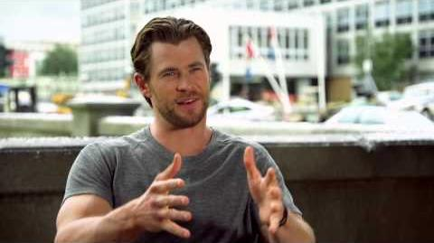 "Marvel's Avengers Age of Ultron Chris Hemsworth ""Thor"" Behind the Scenes Interview"