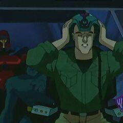Xavier tries Apocalypse's Cerebro unit.