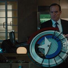 Prototype of Captain America's shield in <i>Iron Man 2</i>.