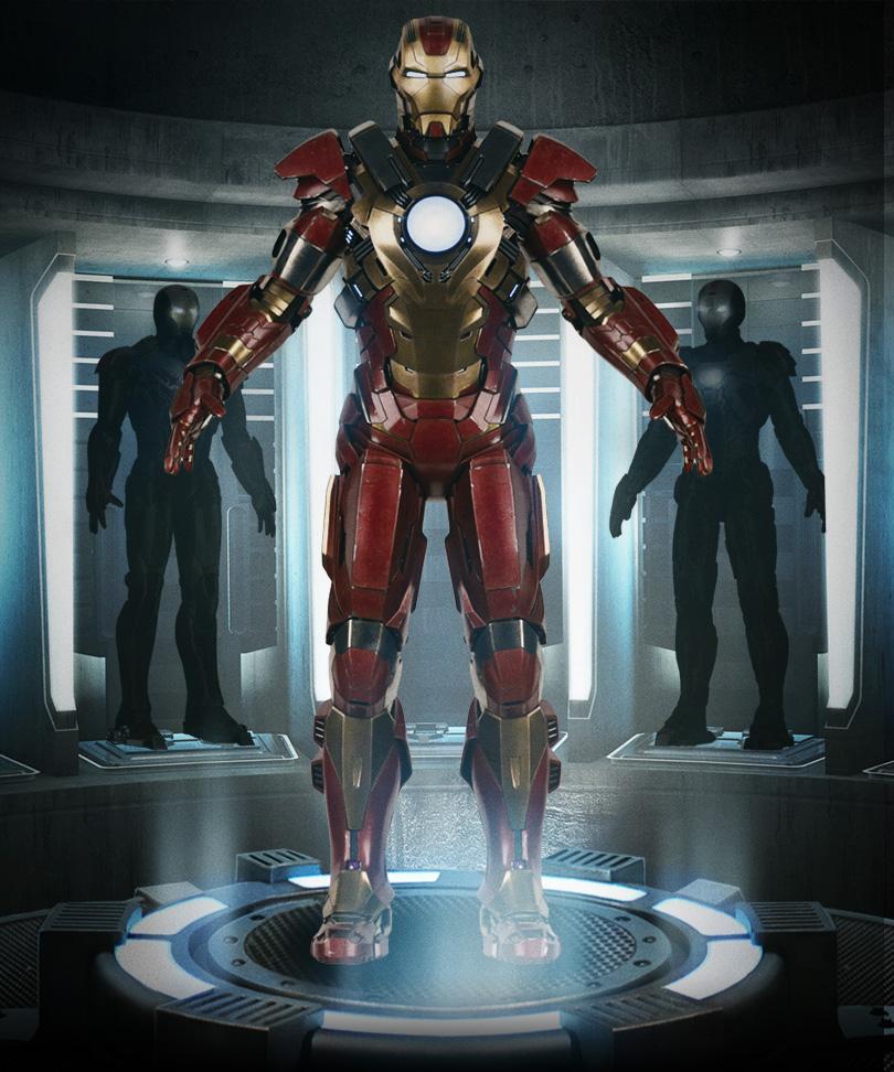 Iron Man 3 Armor Suits Mark 17 Heartbreaker armor
