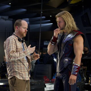 Joss Whedon and  Chris Hemsworth.