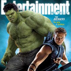 Ew's cover art with Hulk & Hawkeye.