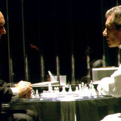 Playing chess with his old friend <a href=