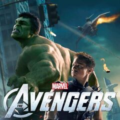 Promotional poster featuring Hulk and Hawkeye.