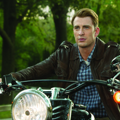 Steve rides his motorcycle.