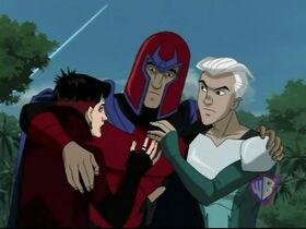 Magneto, Quicksilver, and Scarlet Witch (X-Men Evolution)