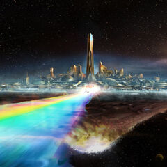 Concept art for Asgard.