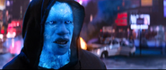 Electro asking Spider-Man if he remebers him.