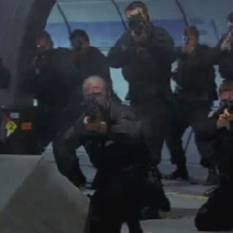 As part of the stunt soldier team in <i>Hulk</i>.
