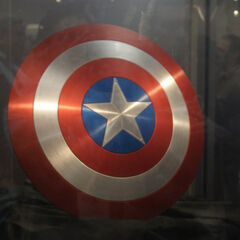 Captain America's shield on display at San Diego Comic Con