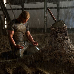Thor after failing to lift Mjölnir.