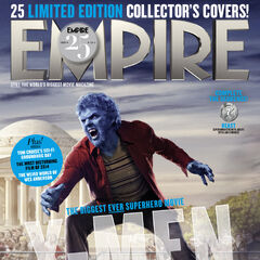 Beast on the cover of <i>Empire</i>.
