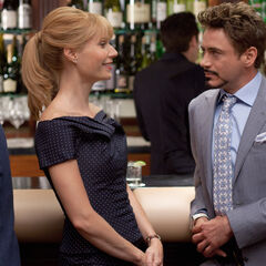 Tony with Pepper Potts