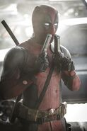 Deadpool Sniffing Guns