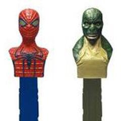 Spider-Man and Lizard Pez Dispensers.