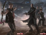 Avengers hawkeye & SHIELD