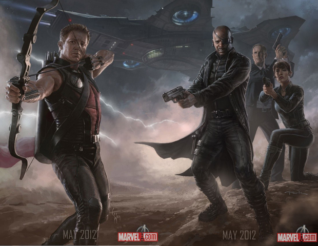 File:Avengers hawkeye & SHIELD.png