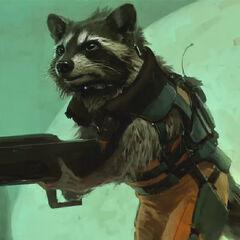 Concept art for Rocket Raccoon.