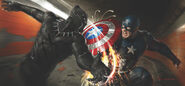 Black Panther vs Captain America vibranium strike