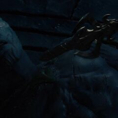 Laufey defeated by Odin.