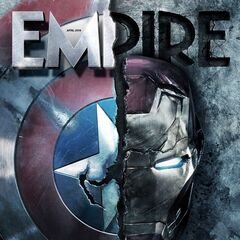 Captain America's Shield/Iron Man's helmet damaged