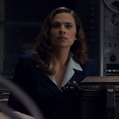Agent Carter at her desk