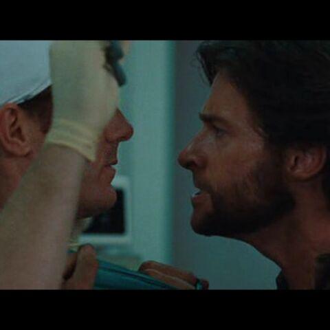 Wolverine grabbing the surgeon.