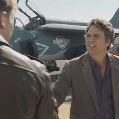 Bruce Banner meets Steve Rogers.