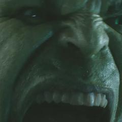 The Hulk roaring.