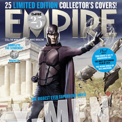 Past Magneto on the cover of <i>Empire</i>.