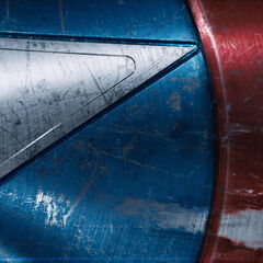 Cap's shield featured in the end credits of <i>The Avengers</i>