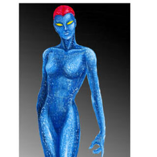 Concept art for Mystique in <i>X-Men</i>.