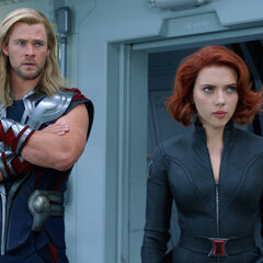 Thor and Black Widow.