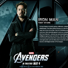Tony Stark Bio Wallpaper.