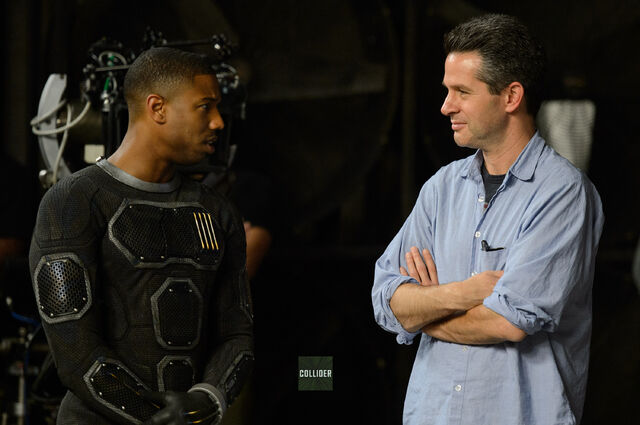 File:The Fantastic Four Michael B. Jordan BTS Josh Trank.jpg