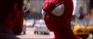 Spider-Man talking to Max