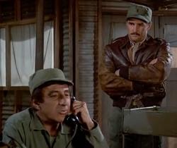 Lt. Brannum in Klinger's office