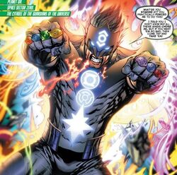 White lantern kyle rayner whith all rings by starsuperion-d8cugap