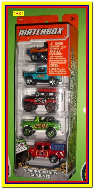 Matchbox JUNGLE ADVENTURE 5PACK 2011 F1